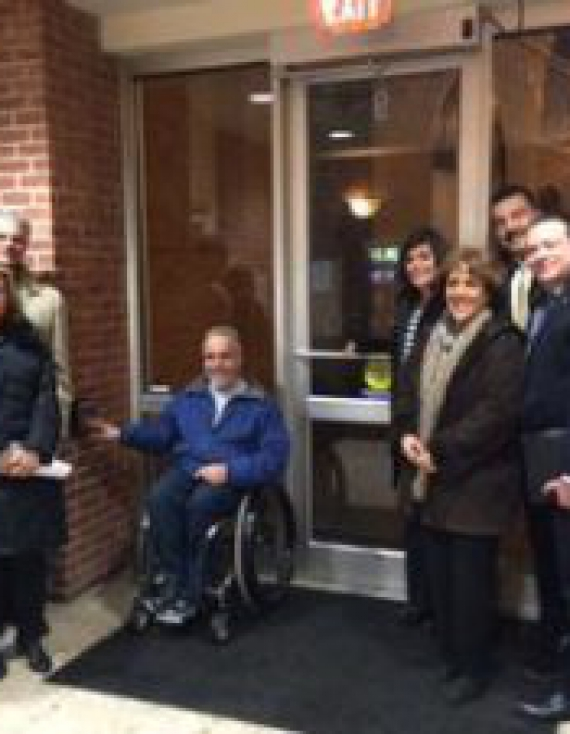 Glen Cove CDA Installs New Handicap Accessible Doors in City Hall