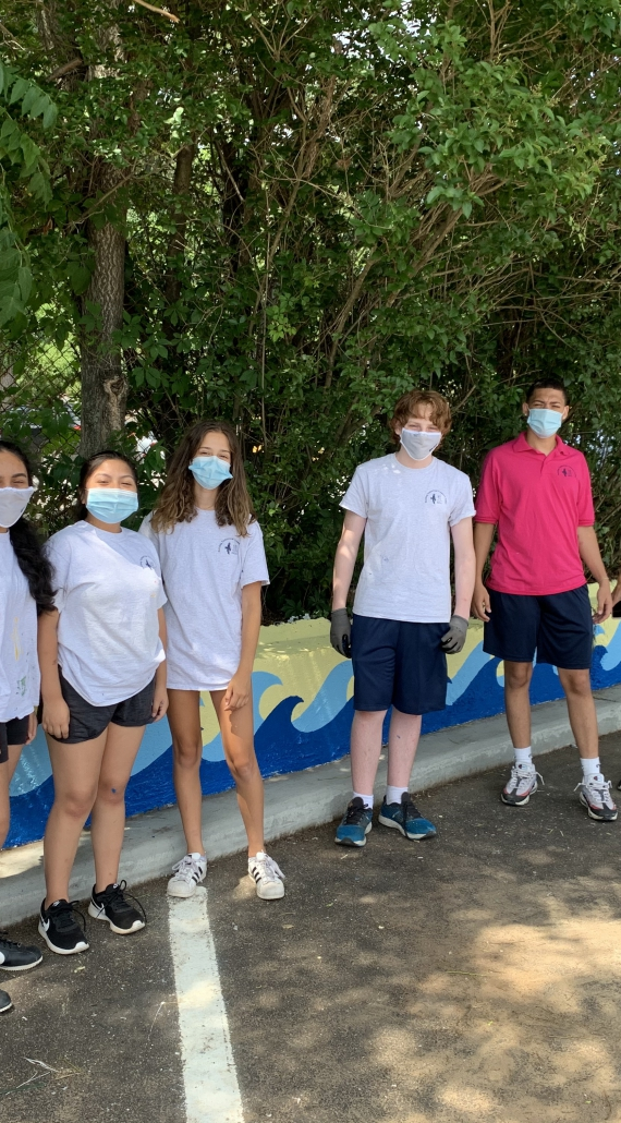 SUMMER YOUTH EMPLOYMENT PROGRAM WORKERS PAINT BEAUTIFUL MURALS IN GLEN COVE